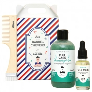 FULL CARE Coffret Grooming Barbe et Cheveux pour Hommes