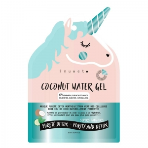 COCONUT WATER GEL Face Mask Purity Detox Mint & Lime Organic Cellulose Coconut water
