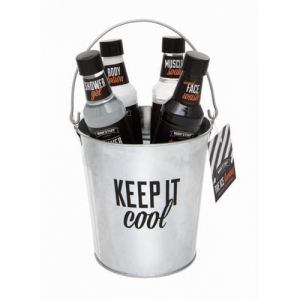 MAN'STUFF THE ICE BUCKET Coffret Cadeau Soin du Corps Visage Homme