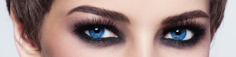 smoky eyes yeux bleus